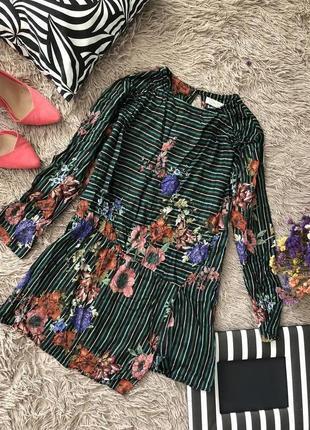 Кофта туника zara в цветы /очень стильная/ много красивых вещей на  странице 1+1=3