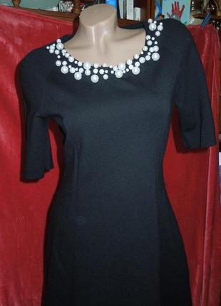Черное классическое платье promod