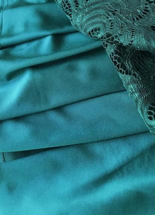Кружевное изумрудное платье (все размеры и расцветки)5