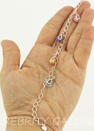 10% скидка - подписчикам! красивый браслет серебряный размер 20. e 4352 col 20