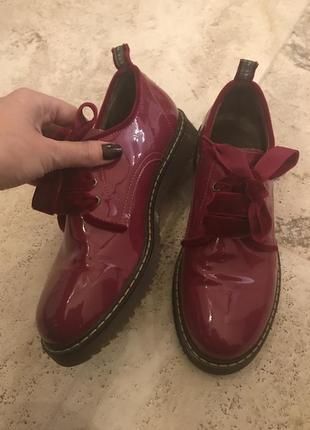 """Шикарные туфли """"twin - set"""" лаковые кожаные туфли"""