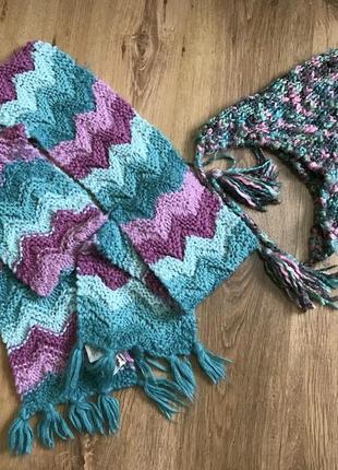 Набор зимний шапка и шарф