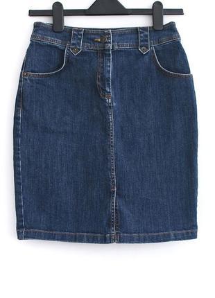 Идеальная базовая плотная джинсовая юбочка на талию • р-р s (примерно на бедра 92-95