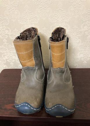 Кожаные зимние ботинки сапожки сапоги черевички шкіряні черевики