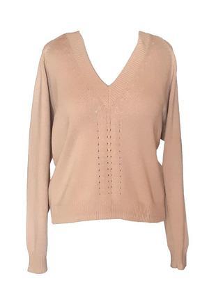 Стильный вязаный пуловер