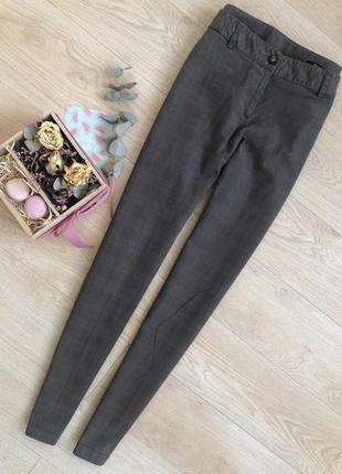 Красиві охайні штани від prani🇮🇹 актуальные брюки в клетку  италия