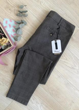 Красиві охайні штани від prani🇮🇹 актуальные брюки в клетку  италия2