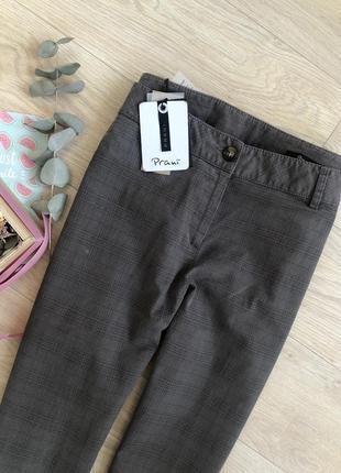 Красиві охайні штани від prani🇮🇹 актуальные брюки в клетку  италия4