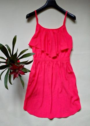 Яркое легкое летнее платье xs-s