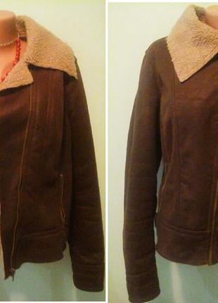 Искусственная дубленка-куртка на молнии