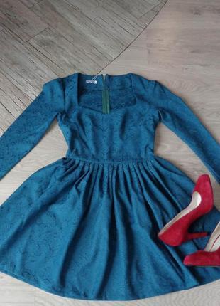 Пышное платье бирюзового цвета {все размеры и расцветки}2 фото
