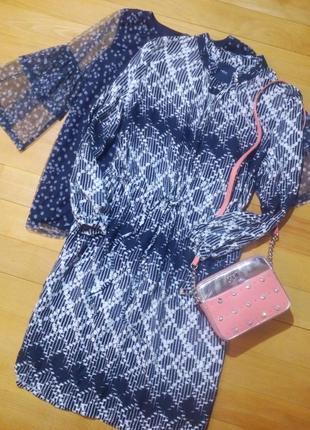 Платье - рубашка из натуральной ткани next