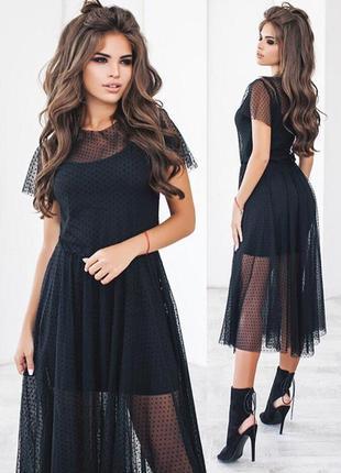 Утонченное черное платье {все размеры}