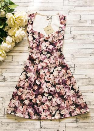 Фактурное платье в цветы asos