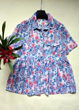 Шифоновая блуза свободного кроя 10