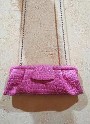 Стильная сумочка клатч с цепочкой новая элитный бренд la regale