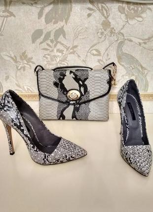 Ультра модный комплект туфли и клатч prego