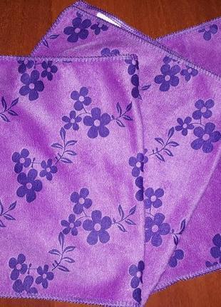 Кухонные фиолетовые полотенца 26 х 49 микрофибра турция