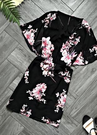 Легкое платье в цветы шифон