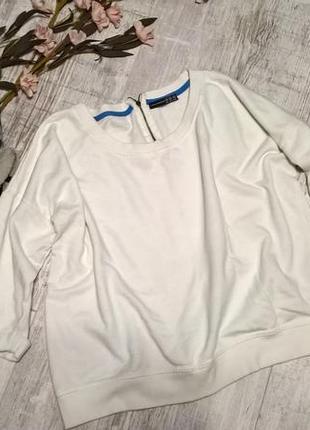 Белый свитшот, спортивная кофта/пуловер/толстовка от atmosphere-m-l-ка
