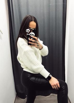 Вязаный свитер под горло роспродажа