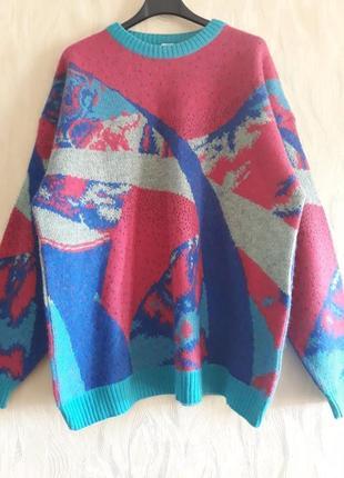 Теплый разноцветный свитер, кофта colmar 58 (50) р