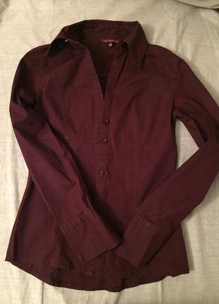 Рубашка , блузка бордового цвета