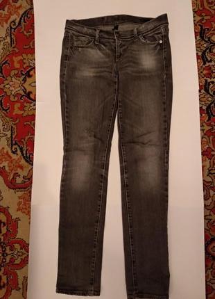 Качественные серые джинсы united colors of benetton якісні брендові міцні сірі джинси