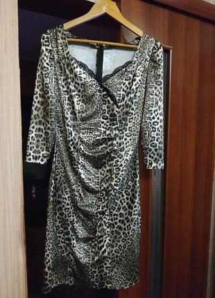 Платье леопард love republic