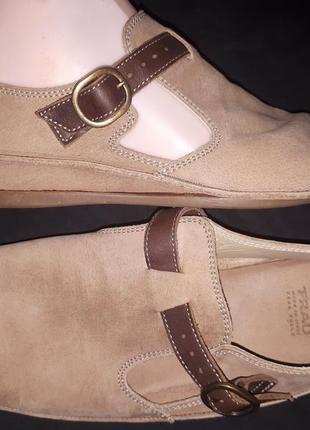 38р-25 нубуковая кожа туфли на широкую frau made in italy