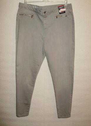 Новые с биркой стрейчевые джинсы скинни/батал/18/52-54 размера m&s