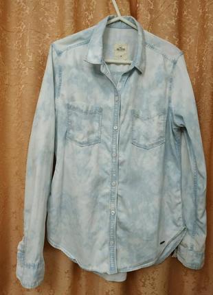 Фирменная джинсовая рубашка hollister