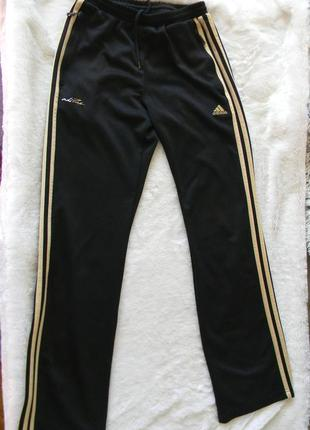 Спортивные штаны adidas, climalate, 11-12 лет, золото