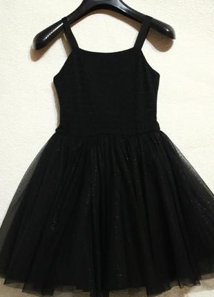 Великолепное вечернее чёрное платье для принцессы , 8 лет petit bateau