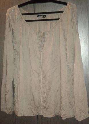 Оригинального фасона нарядная кофточка серого цвета hailys, размер s(36).