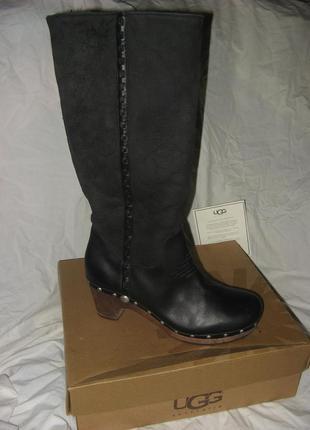 Сапоги зимние ботинки сабо платформа ugg jemma australia оригинал кожа и мех размер 41
