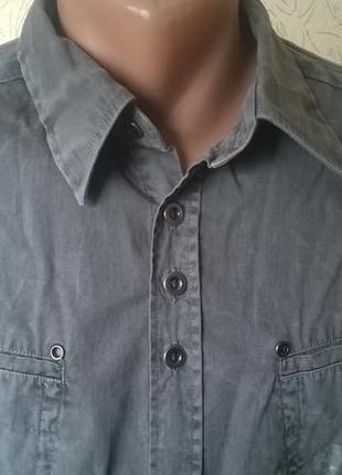 Крутая молодежная  рубашка с орнаментом  от jack&jones, xl размер