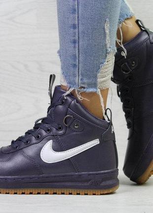 36-41 зимние кроссовки nike air force lf-1 ботинки женские жіночі зимові кросівки