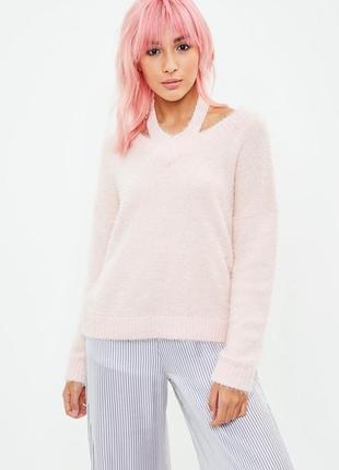 Мягенький теплющий розовый свитерок