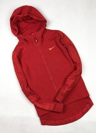 Женская спортивная кофта nike оriginal удлиненная сзади красная