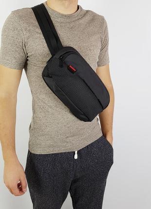 Поясная мужская сумка через плечо kingsons