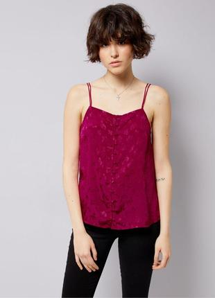 Яркий топ летний, нарядная блуза с атласная, майка жаккард