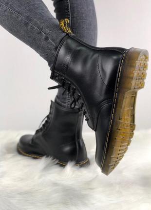 Женские зимние ботинки dr. martens 1460 black 36-45р. Dr. Martens ... db0548d4b2b9a