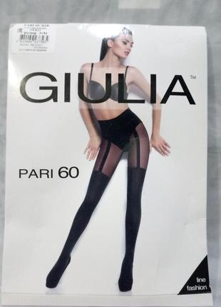 Колготы имитация чулка giulia,60den