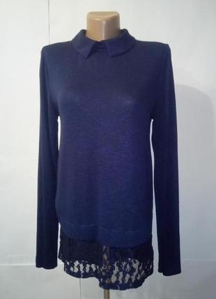 Синяя привлекательная кофта блуза tu uk 8 / 36 /.xs