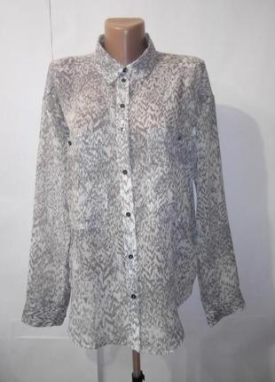 Нежная красивая рубашка блуза marks&spencer uk 10 / 38 /.s