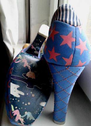 Стильные тканевые туфли на платформе и каблуке , фотосессия , 40р-р
