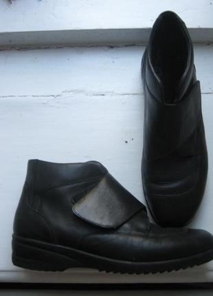 Ортопедические ботинки сапоги полусапоги кожа мех цигейка р-р 38-39 waldlaufer