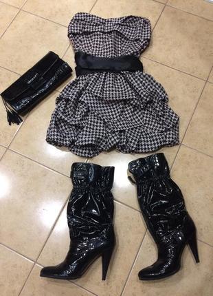 Коктейльное платье в стиле babydoll, размер s uttam london