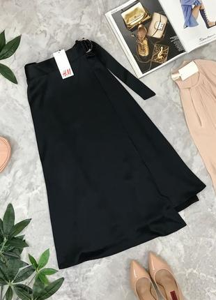 Шикарная юбка на запах с застёжкой на поясе длины миди  ki1849128 h&m
